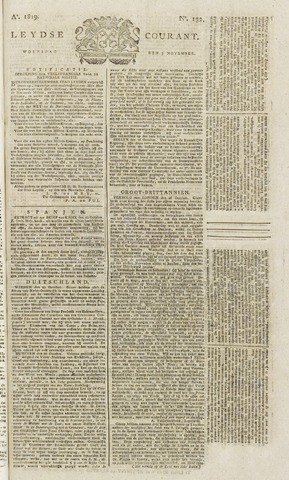 Leydse Courant 1819-11-03