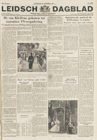 Leidsch Dagblad 1954-09-22