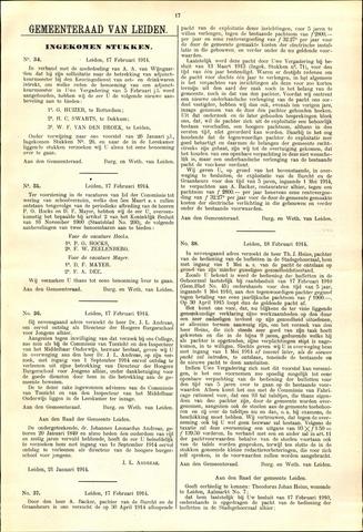 Handelingen van de Raad 1914-02-17