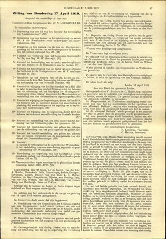Handelingen van de Raad 1919-04-17