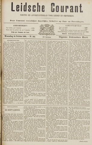 Leydse Courant 1885-10-14