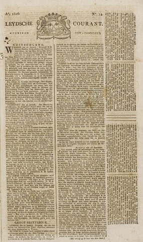 Leydse Courant 1826-02-01