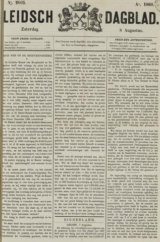 Leidsch Dagblad 1868-08-08