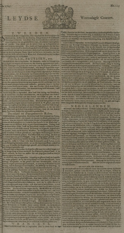 Leydse Courant 1725-10-03