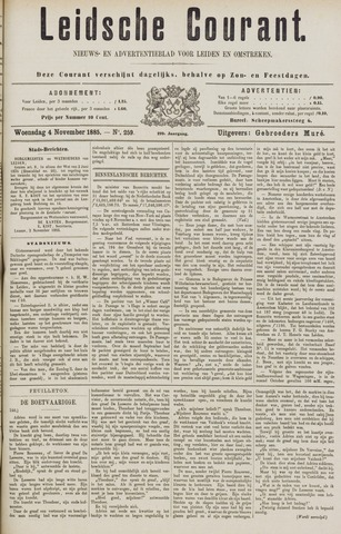 Leydse Courant 1885-11-04