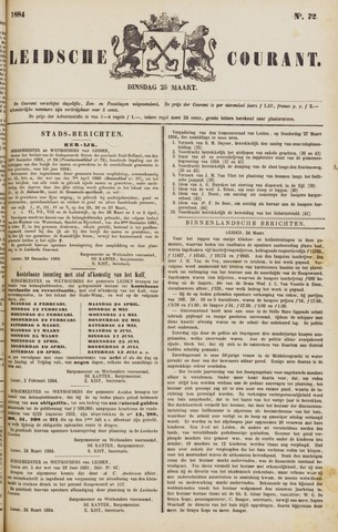Leydse Courant 1884-03-25