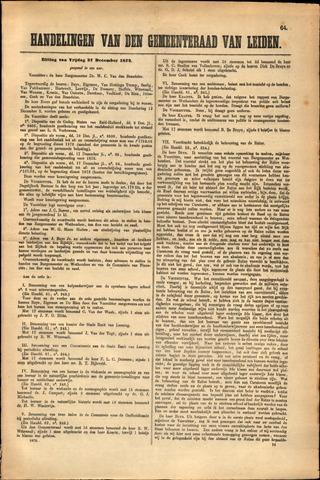 Handelingen van de Raad 1872-12-27