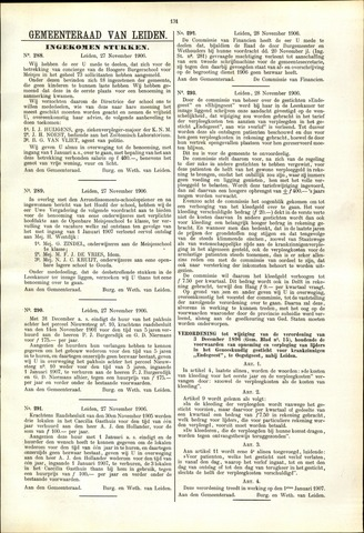 Handelingen van de Raad 1906-11-27