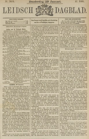 Leidsch Dagblad 1885-01-29
