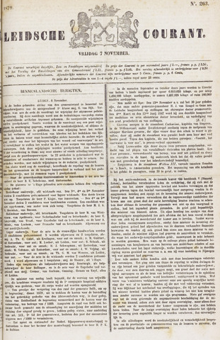 Leydse Courant 1879-11-07