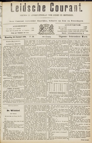 Leydse Courant 1890-01-20
