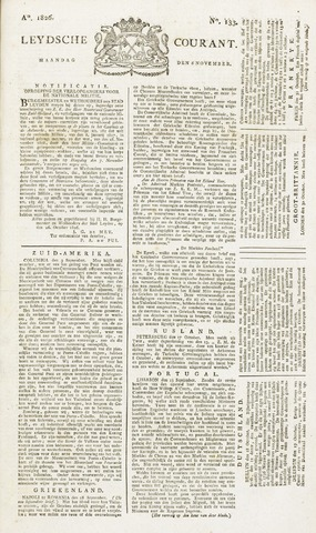 Leydse Courant 1826-11-06
