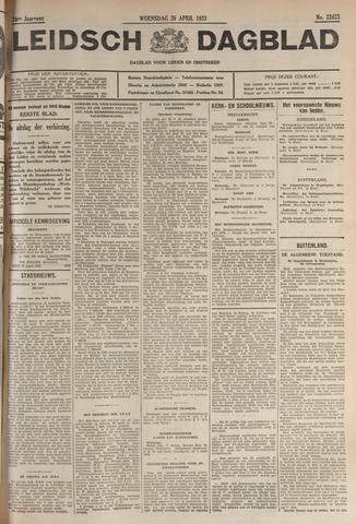 Leidsch Dagblad 1933-04-26