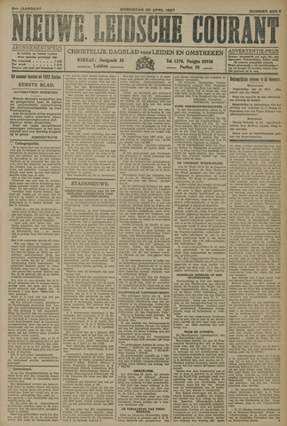 Nieuwe Leidsche Courant 1927-04-20