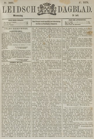 Leidsch Dagblad 1878-07-31