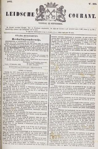 Leydse Courant 1882-09-22