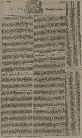 Leydse Courant 1749-04-18