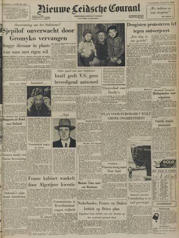 Nieuwe Leidsche Courant 1957-02-16