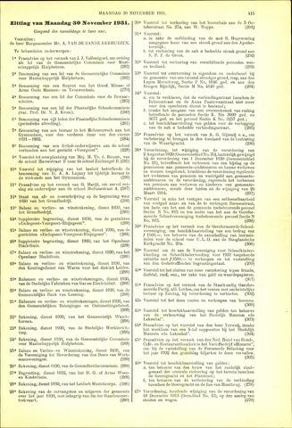 Handelingen van de Raad 1931-11-30