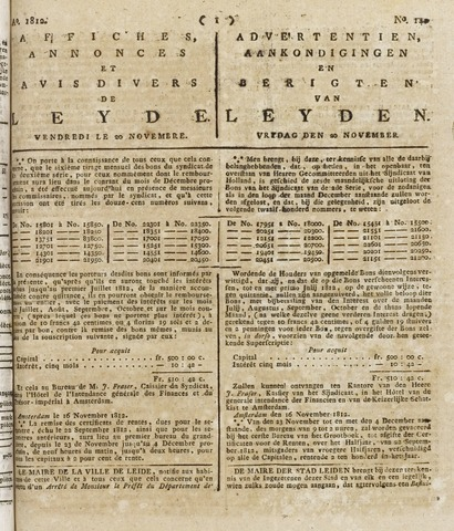 Leydse Courant 1812-11-20
