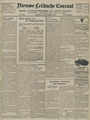 Nieuwe Leidsche Courant 1938-09-21