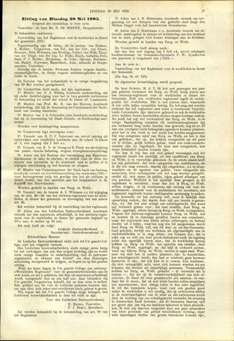 Handelingen van de Raad 1905-05-30
