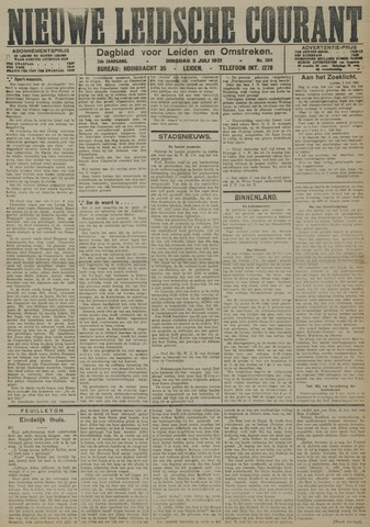 Nieuwe Leidsche Courant 1921-07-05