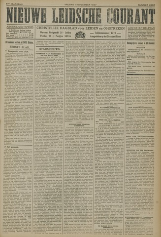Nieuwe Leidsche Courant 1927-11-11