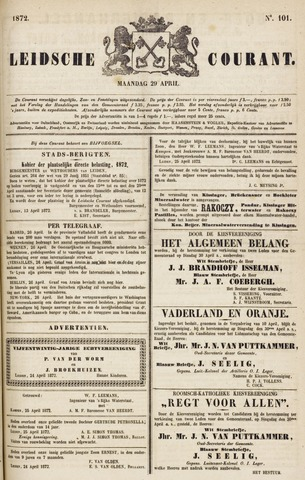 Leydse Courant 1872-04-29