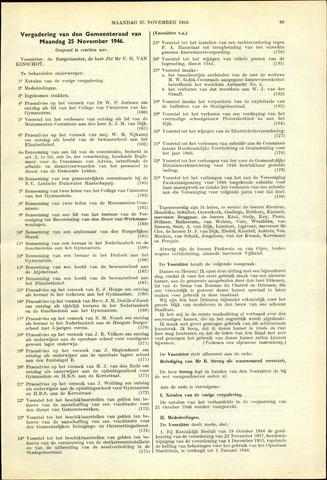 Handelingen van de Raad 1946-11-25