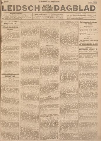 Leidsch Dagblad 1926-02-27