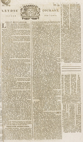 Leydse Courant 1814-04-01