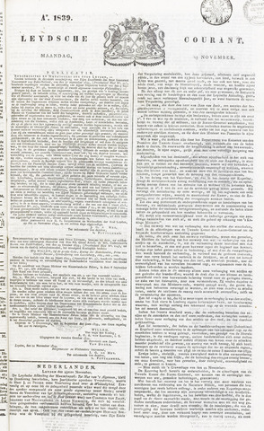 Leydse Courant 1839-11-25