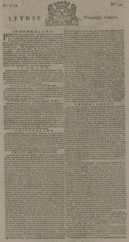 Leydse Courant 1739-12-09