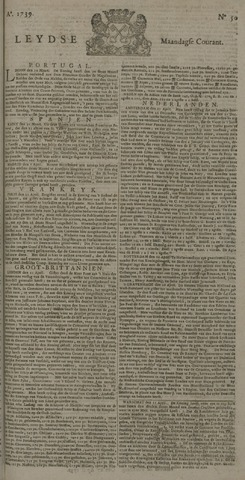 Leydse Courant 1739-04-27