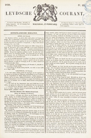 Leydse Courant 1850-02-27