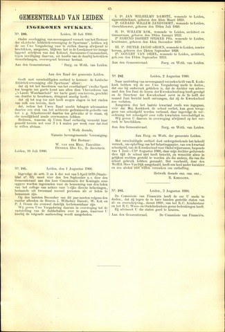 Handelingen van de Raad 1900-07-30