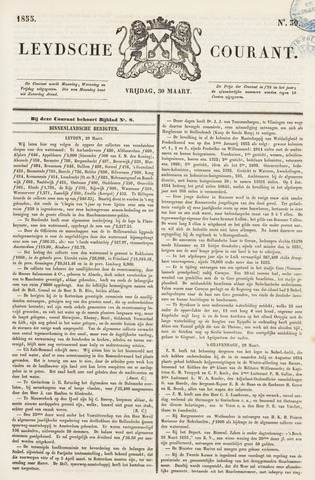Leydse Courant 1855-03-30