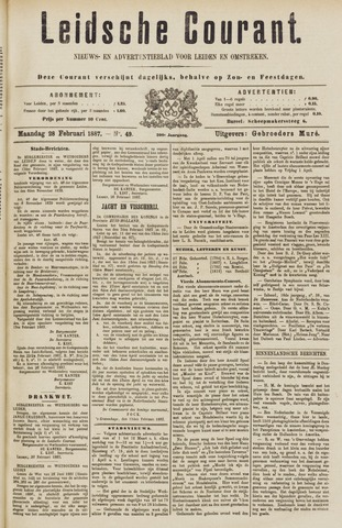 Leydse Courant 1887-02-28