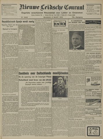 Nieuwe Leidsche Courant 1939-03-06