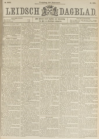Leidsch Dagblad 1894-01-19