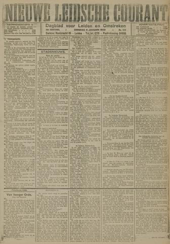 Nieuwe Leidsche Courant 1923-01-09