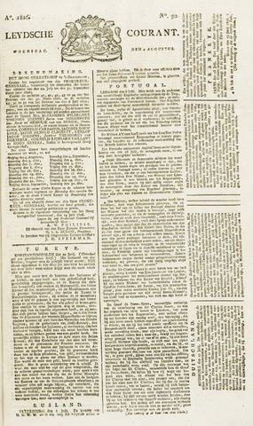 Leydse Courant 1826-08-02