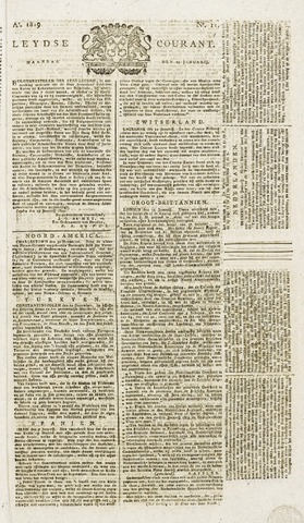 Leydse Courant 1819-01-25