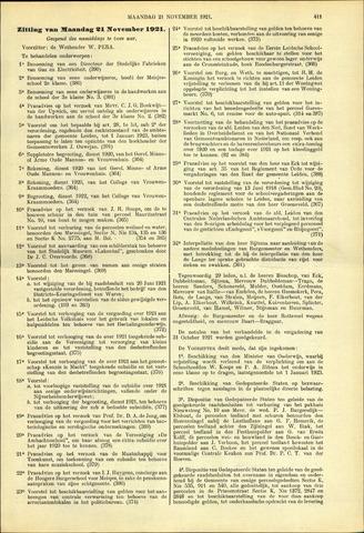 Handelingen van de Raad 1921-11-21