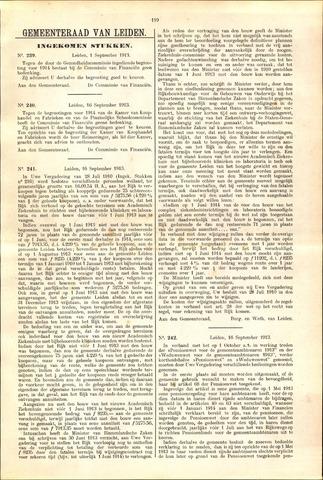 Handelingen van de Raad 1913-09-01