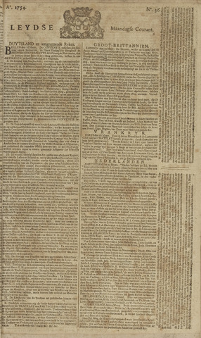 Leydse Courant 1754-03-25