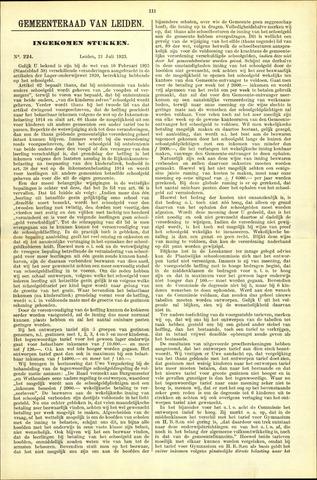 Handelingen van de Raad 1923-07-21