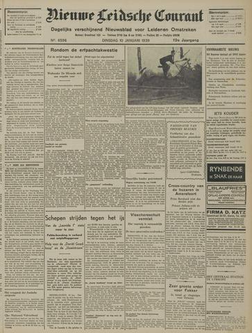 Nieuwe Leidsche Courant 1939-01-10