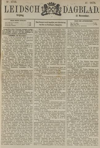 Leidsch Dagblad 1878-11-15